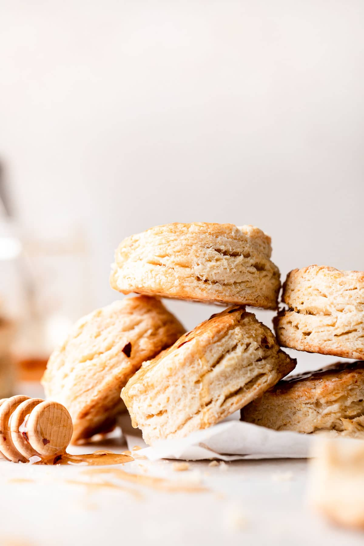a pile of baked biscuits