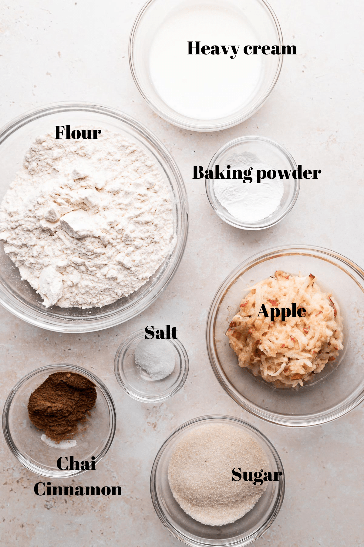 an overhead shot of all the ingredients needed for this recipe