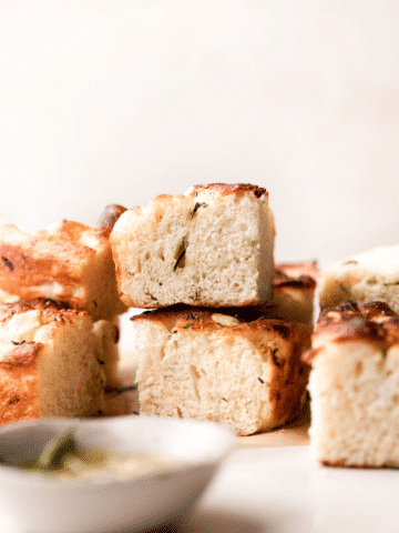 slices of the baked bread on top of each other