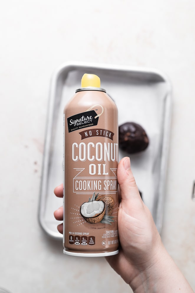bottle of coconut oil non stick cooking spray