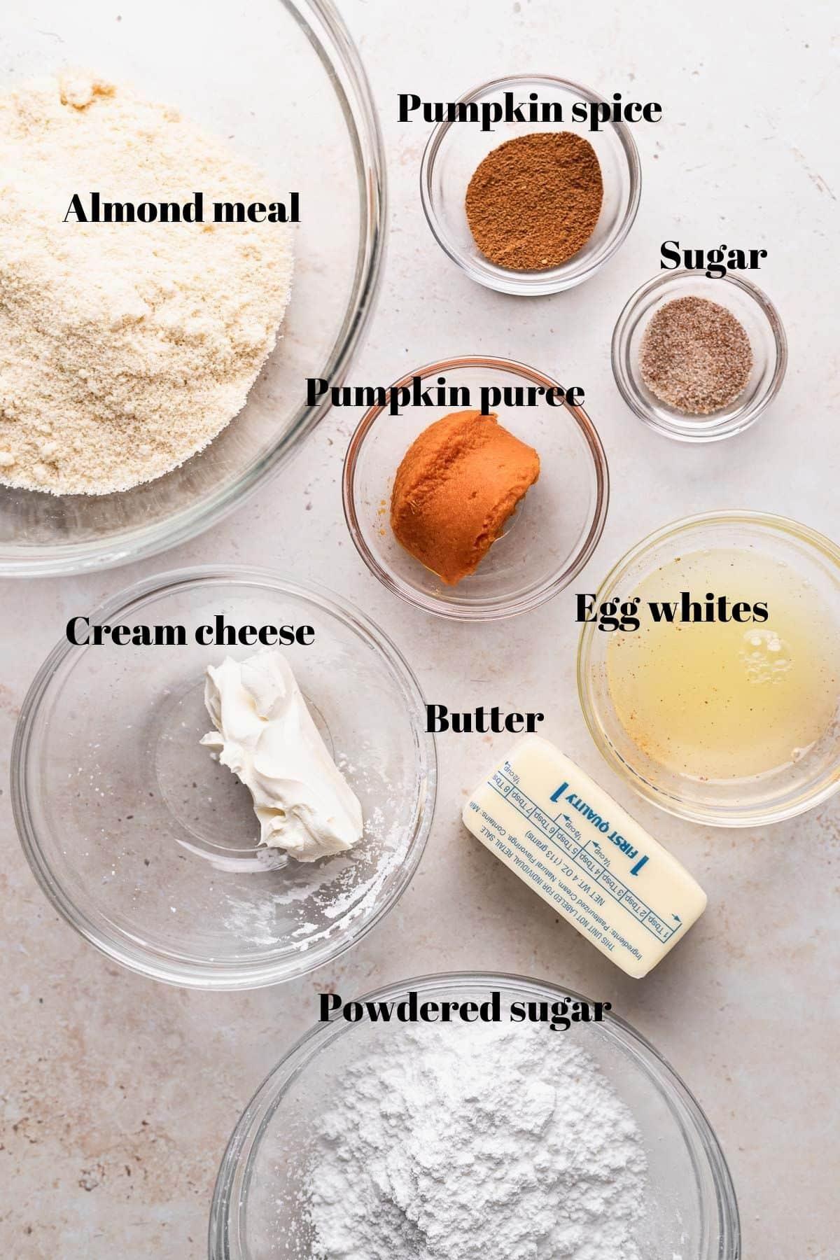 pumpkin macaron ingredients needed.