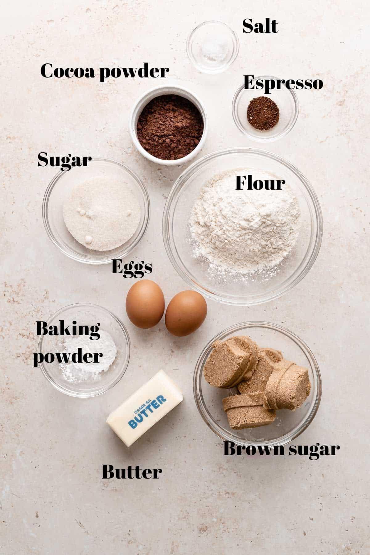 brownie blondie bar ingredients.